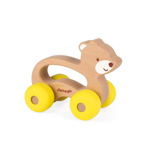 Ours à promener Baby Pop (bois et silicone)