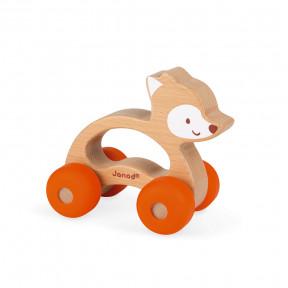 Renard à promener Baby Pop (bois et silicone)