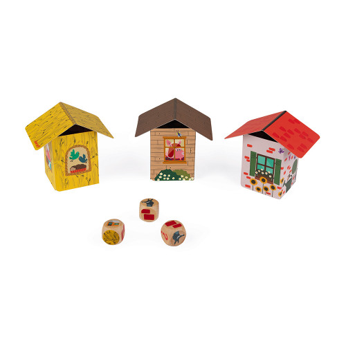 Jeu d'Adresse - Piggy Story (bois et carton)