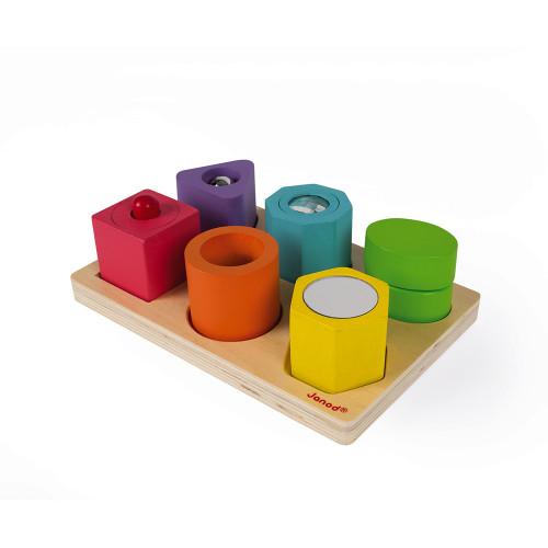 Puzzle 6 cubes sensoriels (bois)