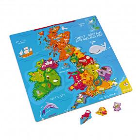 Puzzle magnétique Grande bretagne et Irlande 80 pcs (bois)