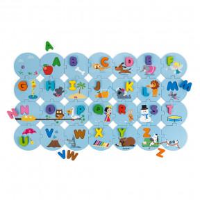 Puzzle J'apprends l'alphabet, Version anglaise (bois et carton)