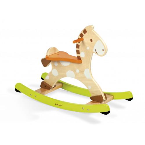 Cheval à bascule en bois