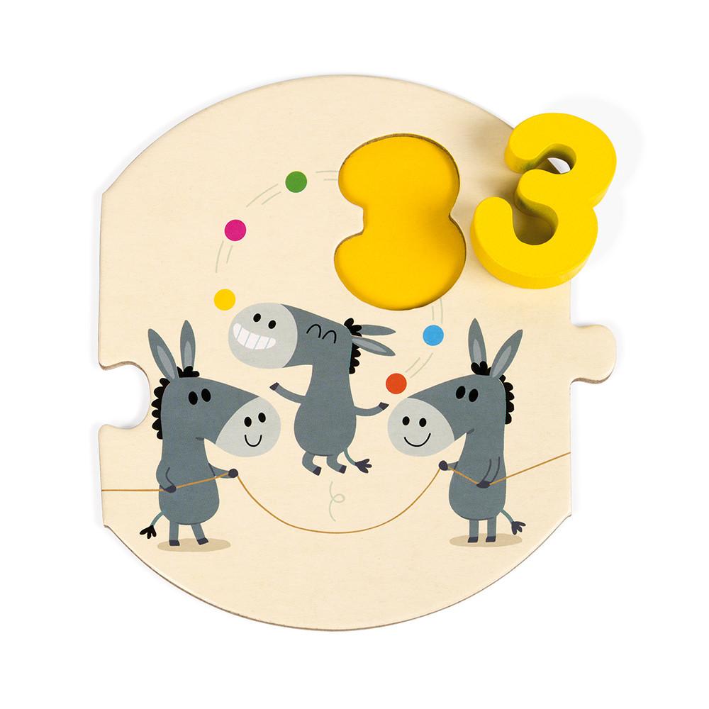 Puzzle J'apprends à compter (bois et carton)