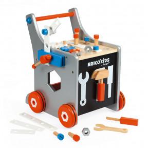 Brico'Kids Werkbankwagen Groß (Holz)
