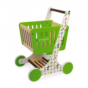 Green Market Shopping Trolley (wood)