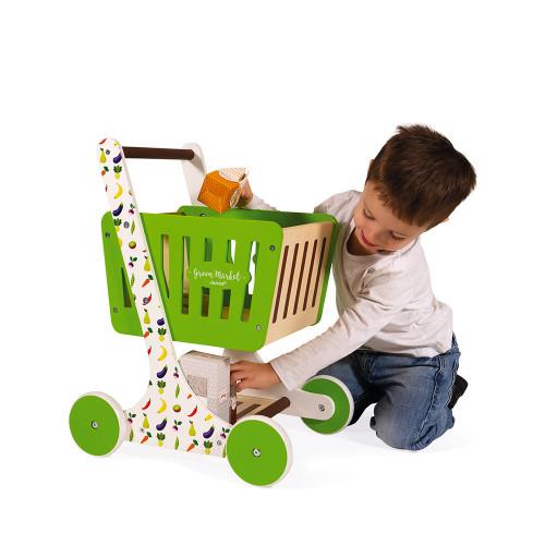Chariot de Courses Green Market (bois)