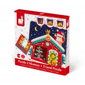 Puzzle 3 Livelli la Notte di Natale (legno)