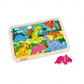 Chunky Puzzle Dinosaurs 7 pieces (wood)