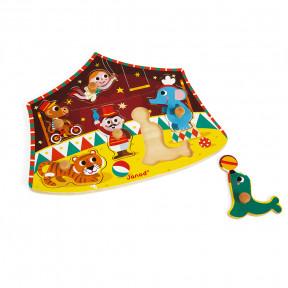 Puzle Encajable Circo de Estrellas 6 piezas (madera)