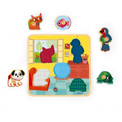 Puzzle Copains de maison 5 pcs (bois)