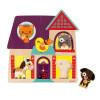 Puzle Encajable Musical Amiguitos Animales 5 piezas (madera)