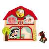 Puzle Encajable Musical Amigos Animales de la Granja 5 piezas (madera)