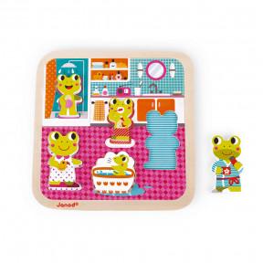 Chunky Puzzle El Baño 5 piezas (madera)