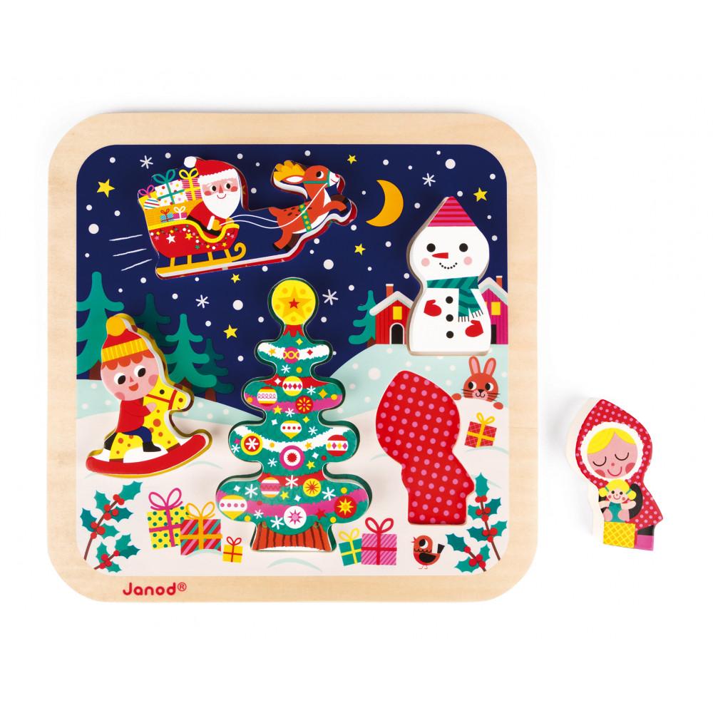 Chunky Puzzle La Magie de Noël 5 pcs (bois)