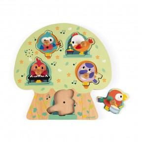 Puzzle Musical Les Oiseaux en Fête 5 pcs (bois)