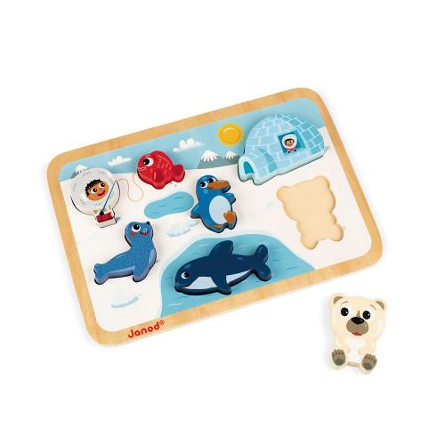 Chunky Puzzle Arctique 7 pcs (bois)