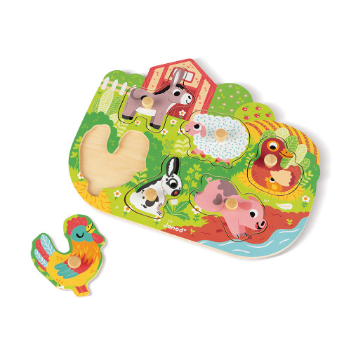 Puzzle Happy Farm 6 pcs (bois)