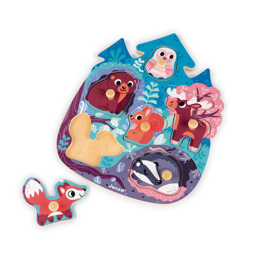 Puzzle Happy Forest 6 pcs (bois)