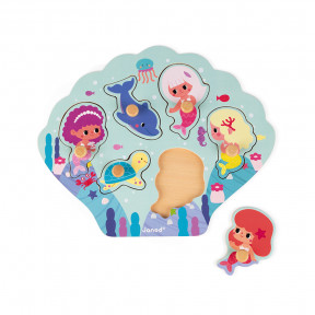 Puzzle Happy Mermaids 6 pcs (bois)