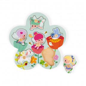 Happy Fairies Puzzle 6 pieces (wood)