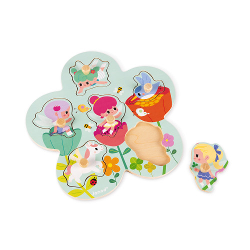 Puzzle Happy Fairies 6 pcs (bois)