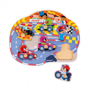 Puzzle Happy Racing 6 pcs (bois)