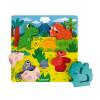 Puzzle Nascondino Dinosauri 6 pezzi (legno)