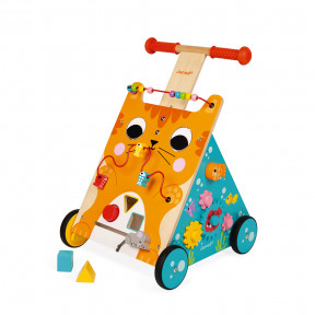 Multi-Activities Cat Baby Walker (wood)
