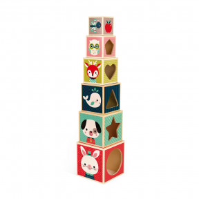 Baby Forest 6-Block Pyramid (wood)