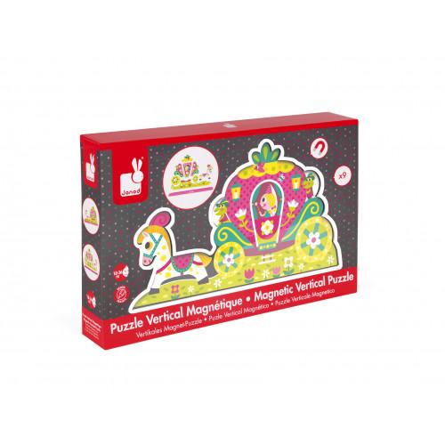 Puzzle Vertical Magnétique Princesses 9 pcs (bois)