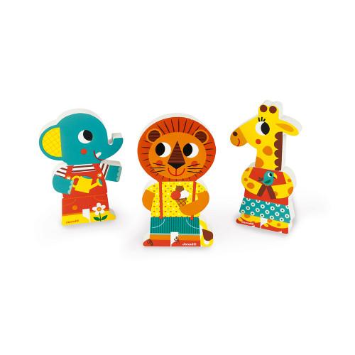 Funny Magnets - Une Journée Au Zoo (bois)