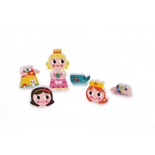 Funny Magnets - Princesses (bois)