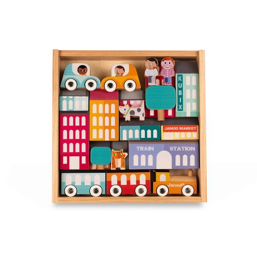 Kubix - 22 pièces city (bois)