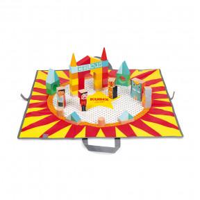 Kubix 60 Bausteine Zirkus Mit Spieltasche (Holz)