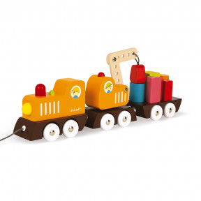 Multi Colors Crane Train (wood)
