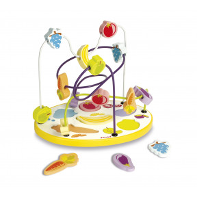 Looping Puzzle Fruits et Légumes 6 pcs (bois)