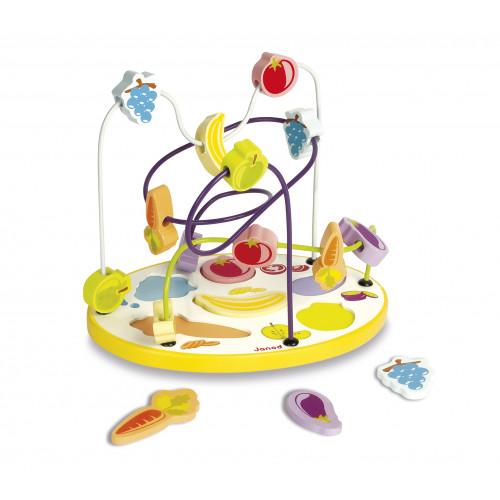 Looping Puzzle Fruits et Légumes 6 pcs (bois)