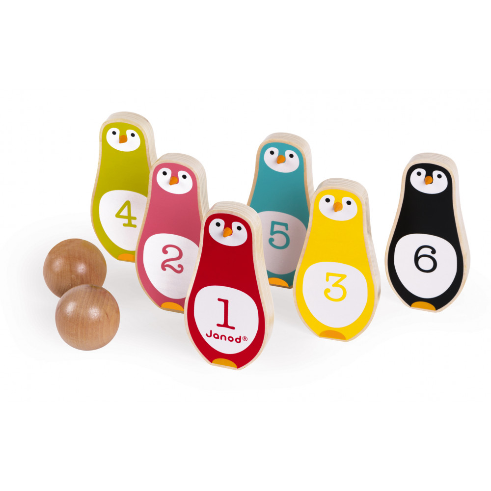Jeu de Quilles Pingouins (bois)