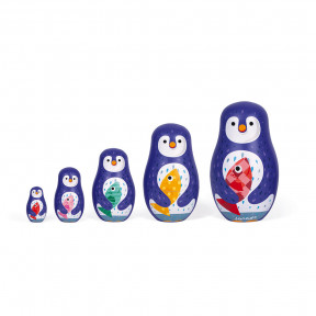 Zigolos Pinguin Familie Matroschka (Holz)