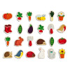 Garden Magnets 24 pieces (wood)