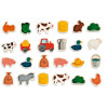 Farm Magnets 24 pieces (wood)