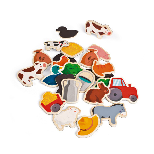 Magnets 24 pcs - Ferme (bois)
