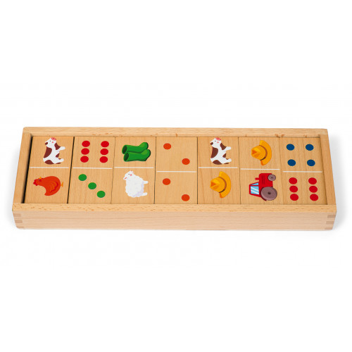 Dominos Ferme - 28 pcs (bois)
