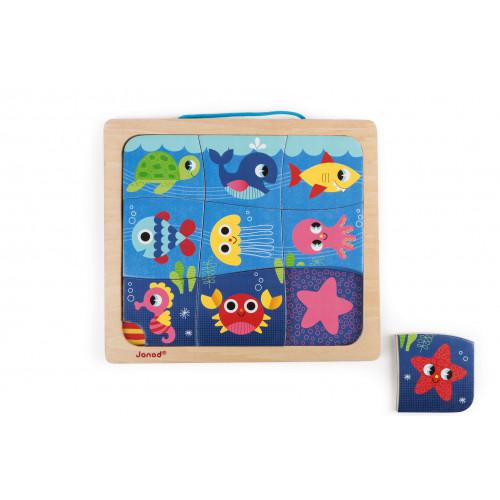 Magneto Puzzle Happy Fish 9 pcs (bois)