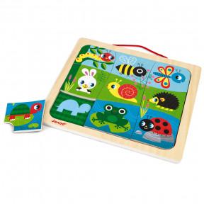 Magneto Puzzle Happy Garden 9 pcs (bois)