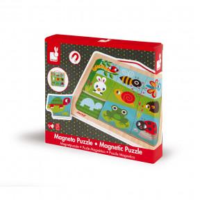 Magnet-Puzzle Garten 9 Teile (Holz)