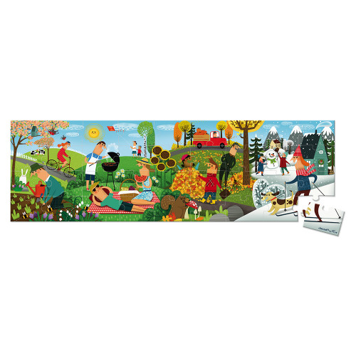 Valisette puzzle panoramique 4 saisons 36 pcs
