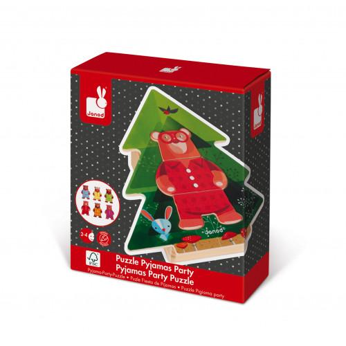 Puzzle Pyjamas Party Zigolos 18 pcs (bois)