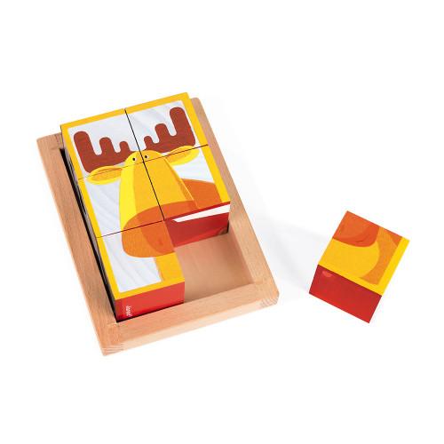 Barquette 6 cubes Forêt Zigolo (bois)